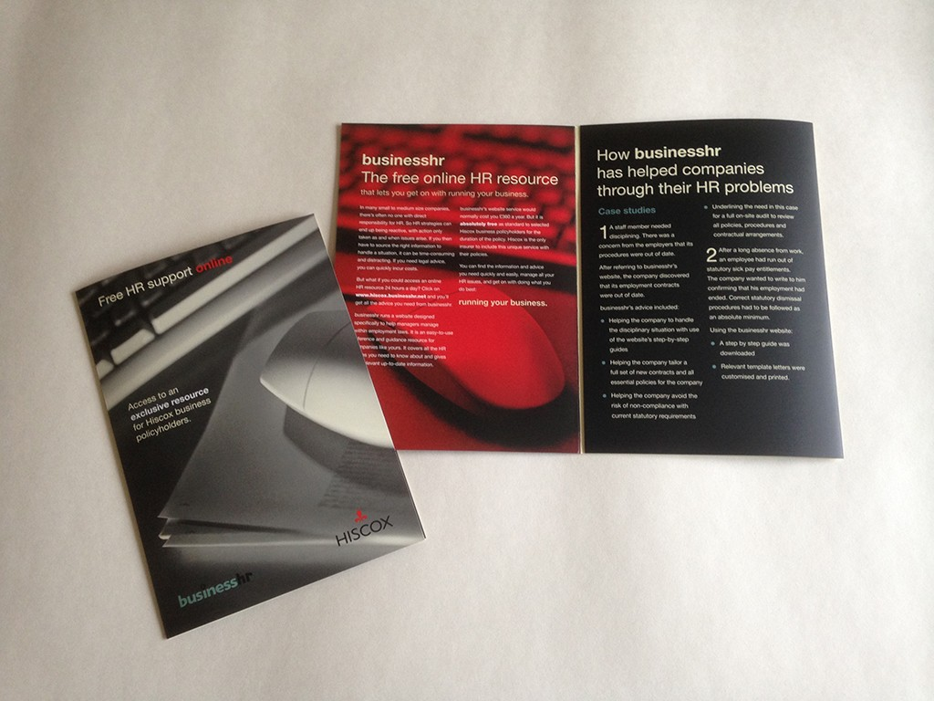 Hiscox A5 Leaflet