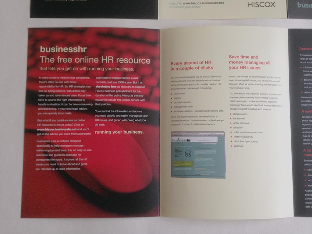 Hiscox – B2B A5 leaflet