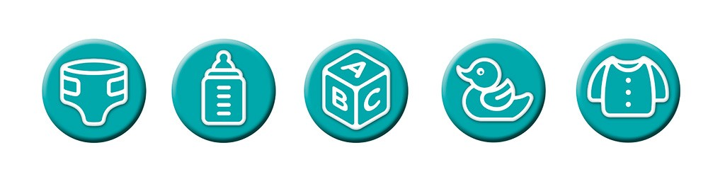 Pampers - Wayfinding icons