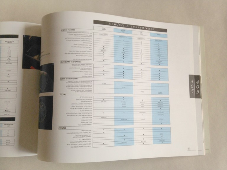 Peugot – Dealership sales brochure