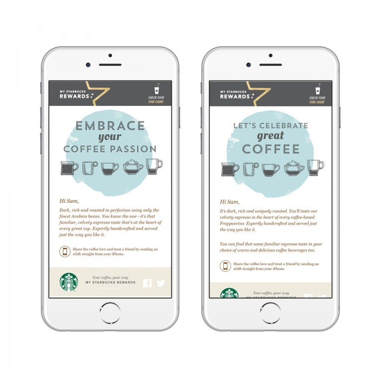 Starbucks – Personalised email marketing